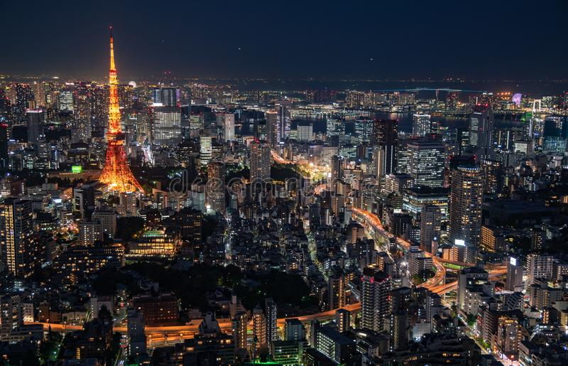 The most beautiful Viewpoint Tokyo tower in tokyo city ,japan royalty free stock images