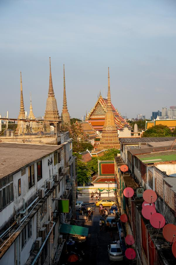 The most beautiful Viewpoint Wat Arun,Buddhist temple in Bangkok, Thailand stock photo