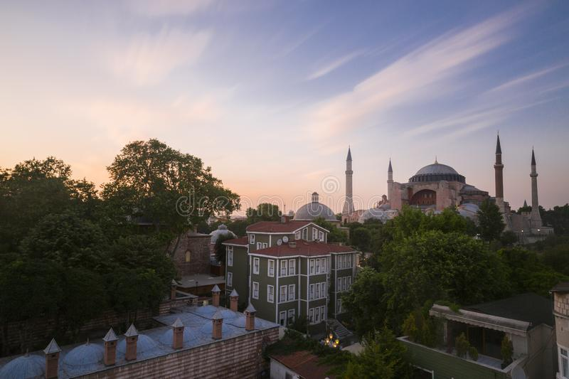 Blue Mosque and Hagia Sophia./istanbul royalty free stock photos