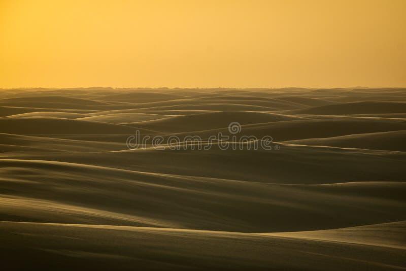 Dunes. The most Beautifull sunset in dunes stock photos
