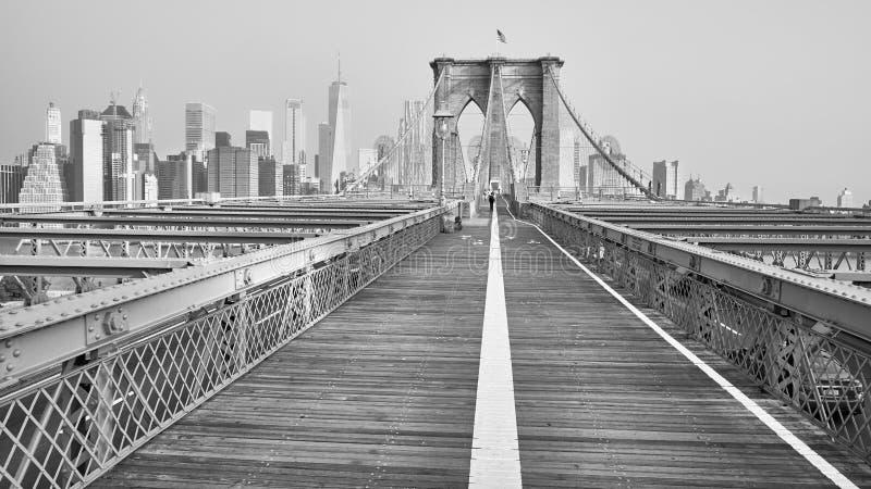 Most Brooklyński i Manhattan linia horyzontu, NYC obrazy stock