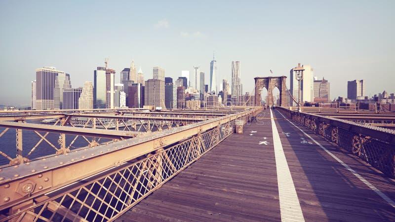 Most Brooklyński i Manhattan linia horyzontu, NYC zdjęcie royalty free