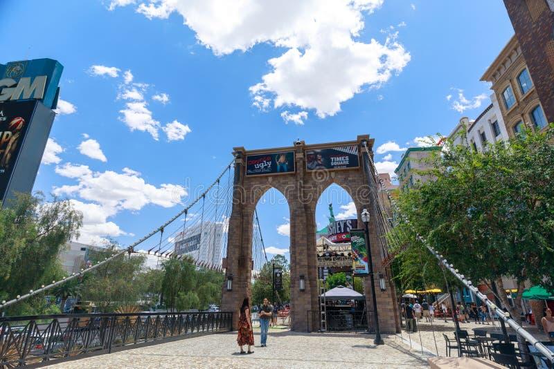 Most Brooklyński, Nowy nowy Jork hotel i kasyno, Las Vegas pasek w raju, Nevada, Stany Zjednoczone zdjęcie royalty free