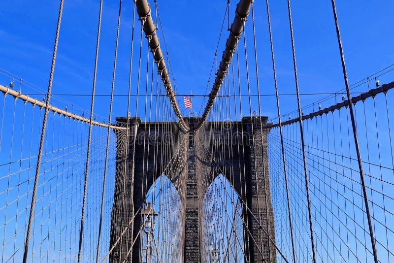 Most Brooklyński w Manhattan, Miasto Nowy Jork, usa obrazy stock