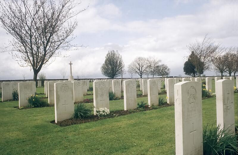 St. Manvieu War Cemetery stock images