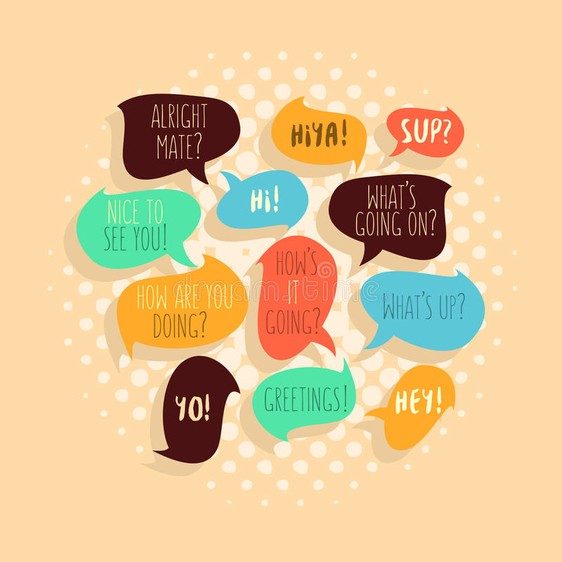 Most common used typical hello phrases on speech flat style bubb download most common used typical hello phrases on speech flat style bubb stock vector illustration m4hsunfo
