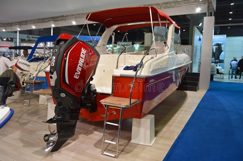 The most comprehensive and largest meeting of the maritime sector Istanbul 14. Cnr Eurasia Boat Show 2019 opened its doors splendi stock image