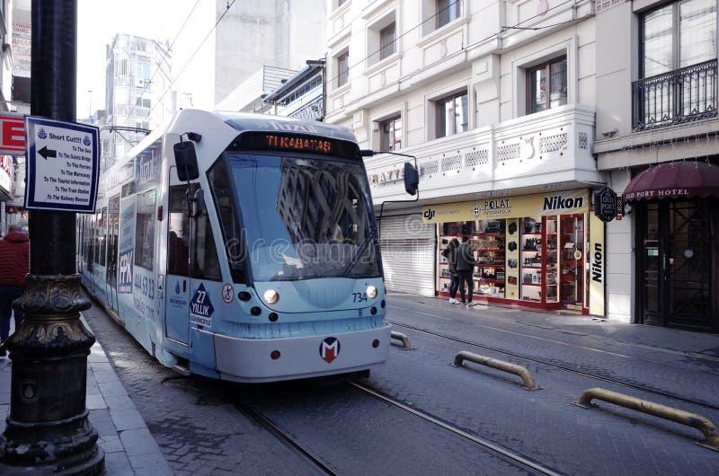 Tram on Istanbul street royalty free stock photos