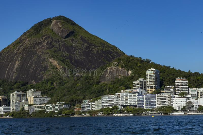 Most expensive apartments in the world. Wonderful places in the world. Lagoon and neighborhood of Ipanema, in Rio de Janeiro, Brazil, South America stock photo