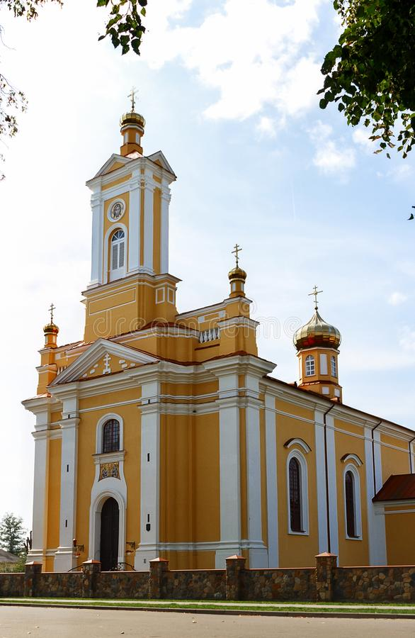 The most famous attraction in Ruzhany is the Trinity Church in Ruzhany, Belarus. The most famous attraction in Ruzhany is the Trinity Church in Ruzhany, Brest royalty free stock photos
