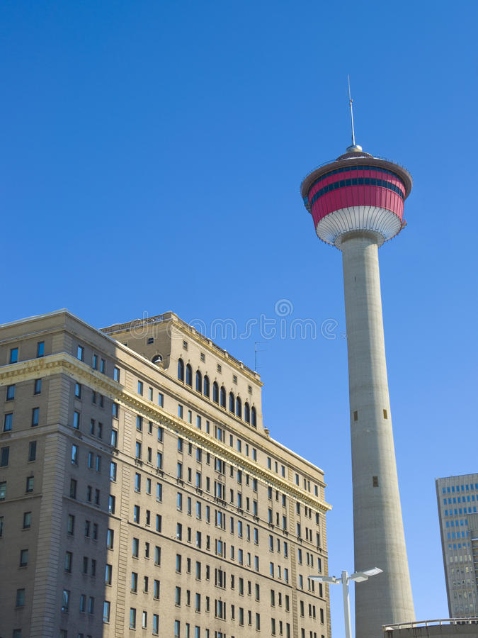 Most Famous Calgary Landmark Royalty Free Stock Photography