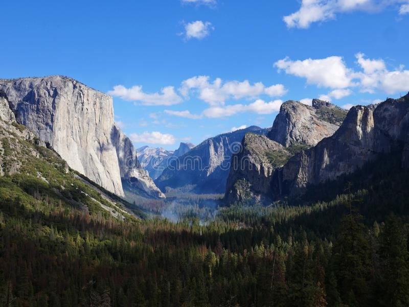 Tunnel view, Yosemite national park, California, USA royalty free stock images