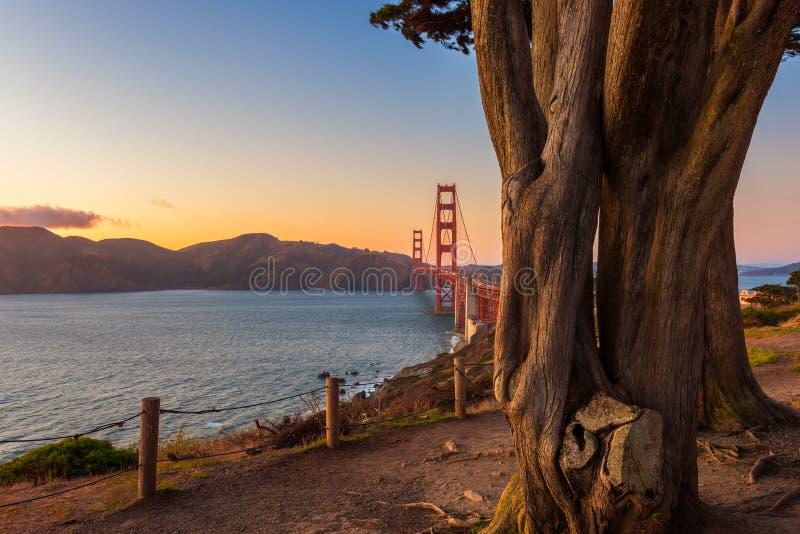 Most Golden Gate w San Francisco obraz stock