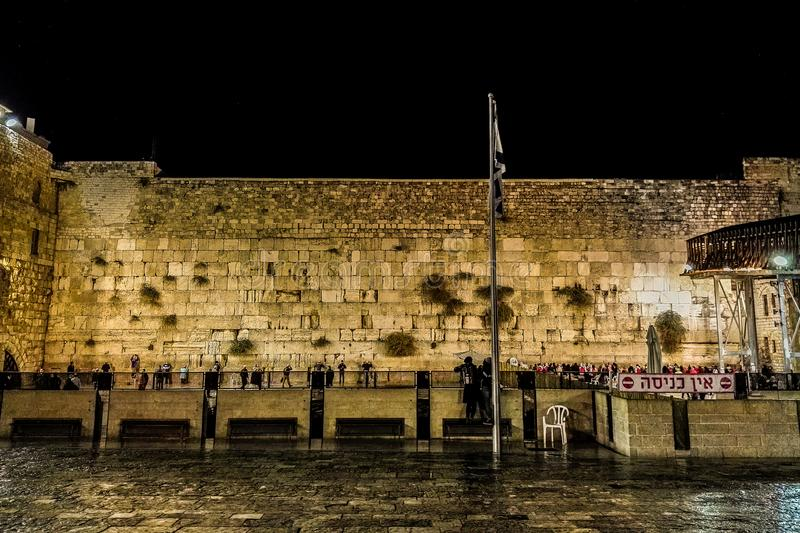 The Western Wall, Wailing Wall royalty free stock photo