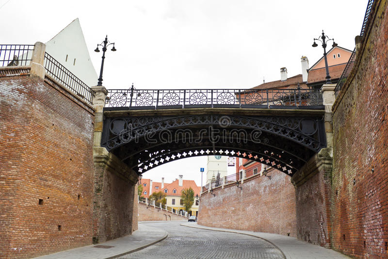 most kłama Sibiu obraz royalty free