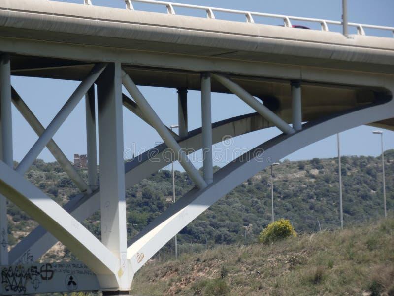 Most krzyżować llobregat rzekę zdjęcia stock