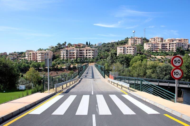 most kursu golfa nowego drogowym w Hiszpanii obraz royalty free
