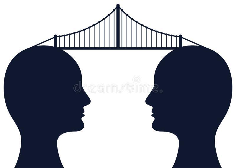 Most między umysłami royalty ilustracja