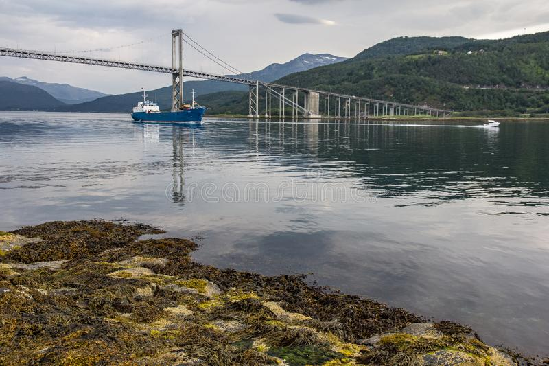 Most między wyspami obrazy royalty free