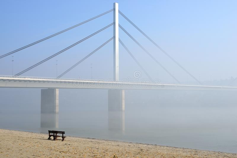 Most na Danube rzece obrazy royalty free