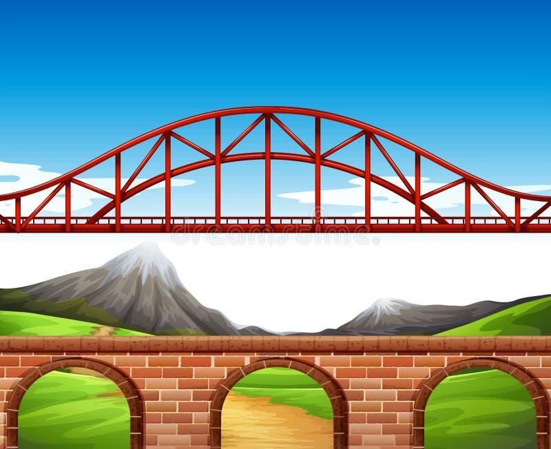 Most nad ścianą ilustracja wektor