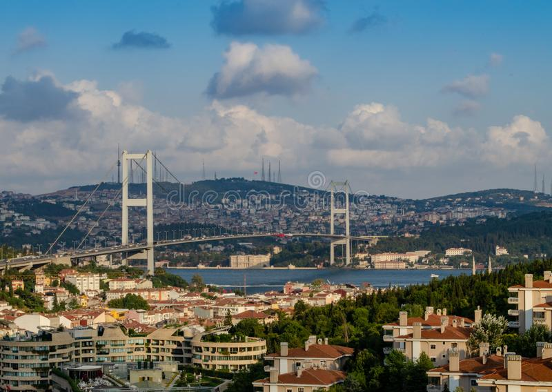 Most nad Bosphorus w Istanbuł obraz stock