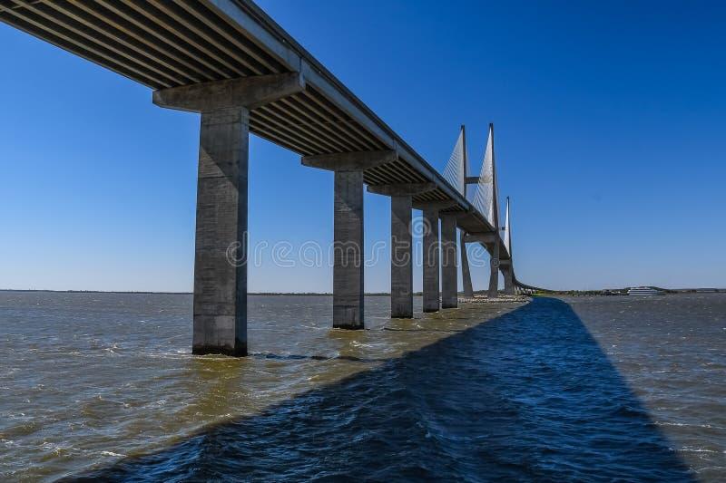 Most Nad Brunswick rzeką obrazy royalty free