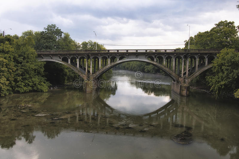 Most Nad Conococheague zatoczką fotografia royalty free
