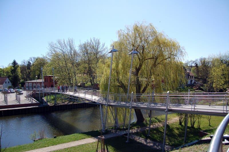 Most nad Havel rzeką w Rathenow Niemcy obraz royalty free