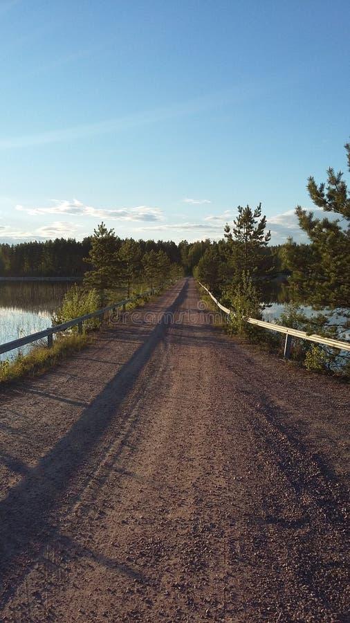 most nad jezioro obraz royalty free