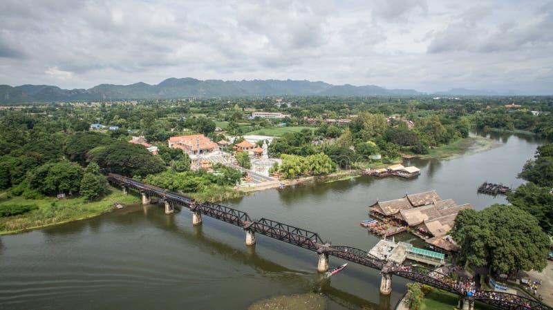 Most Nad Kwai rzeką, Kanchanaburi, Tajlandia zdjęcie stock