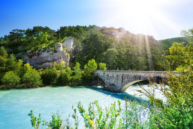 Most nad Le Verdon obraz royalty free