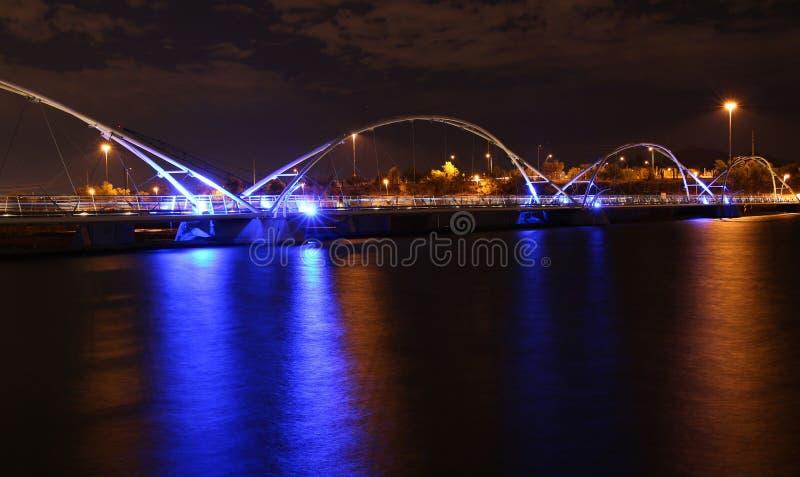 Most nad Rio Salado rzeką zdjęcie royalty free