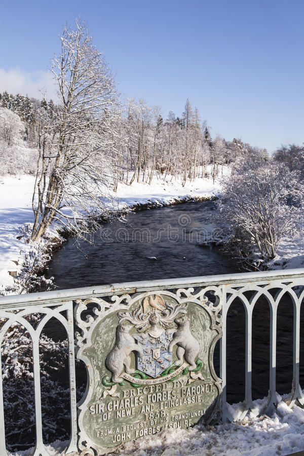 Most nad Rzecznym Don w Szkocja obraz royalty free