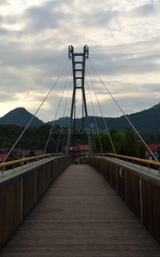 Most nad rzecznym Dunajec zdjęcie stock