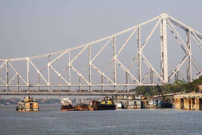 Most nad rzeką w Kolkata obrazy royalty free