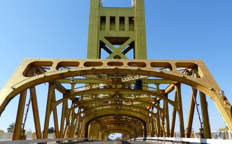 Most nad Sacramento rzeką fotografia royalty free