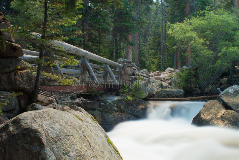most nad strumieniem obrazy royalty free