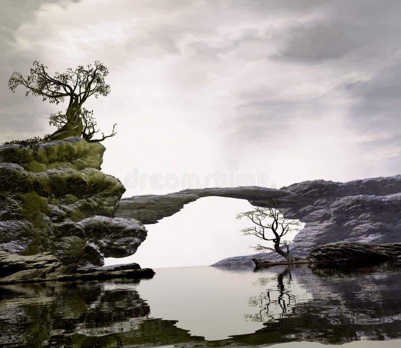 Most Nad zacisznością Nawadnia obrazy stock