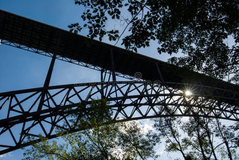 Most New River Gorge w Wirginii Zachodniej zdjęcia royalty free