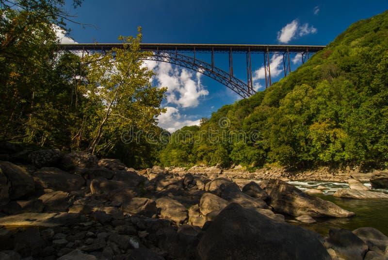 Most New River Gorge w Wirginii Zachodniej fotografia stock