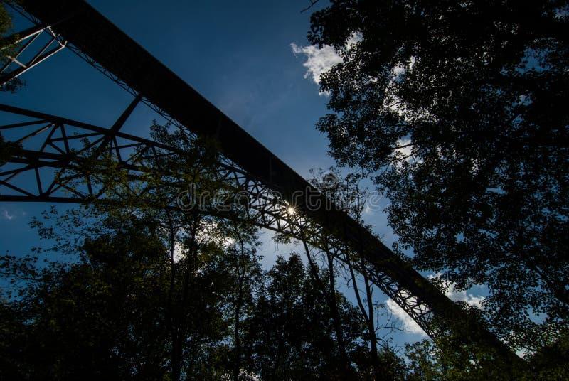 Most New River Gorge w Wirginii Zachodniej fotografia royalty free