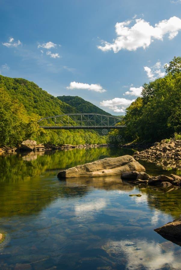 Most Old New River Gorge w Wirginii Zachodniej zdjęcie royalty free