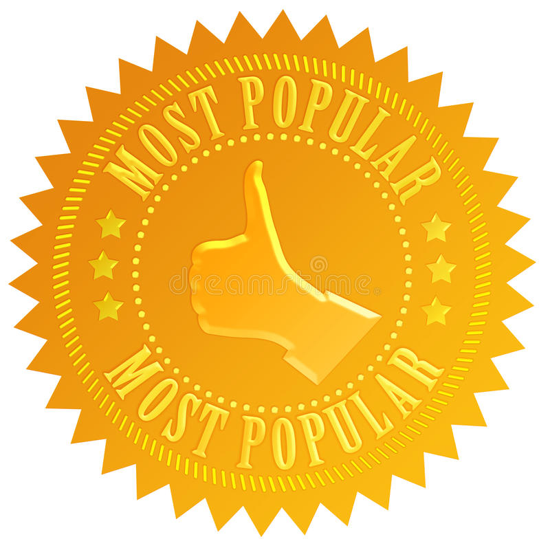 Most popular. Business seal isolated on white vector illustration