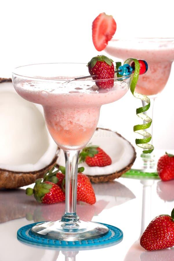 Most popular cocktails series - Strawberry Colada stock photos