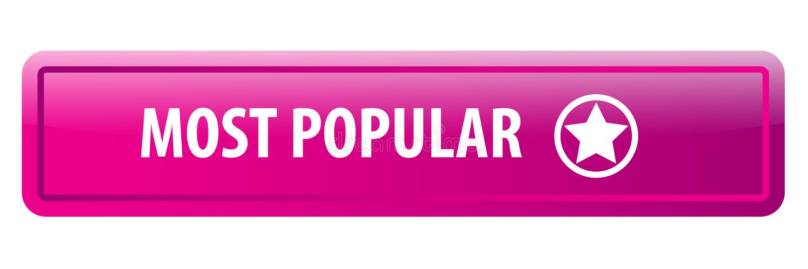 Most popular web button. Most popular colorful web icon button of vector illustration on isolated white background vector illustration