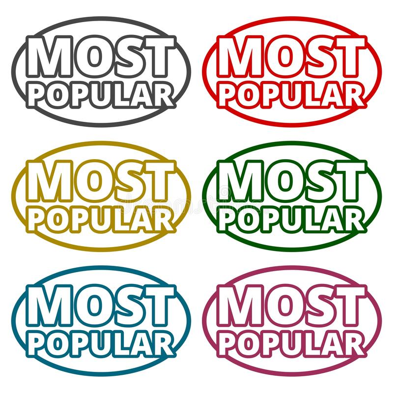 Most Popular icons set. Vector icon royalty free illustration