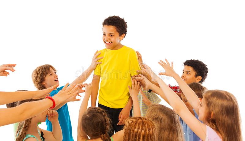 The most popular kid in class stock photo