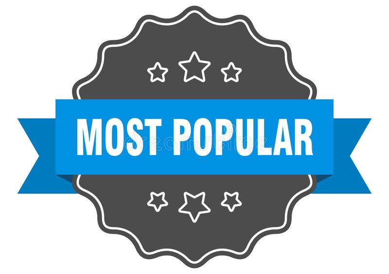 Most popular label. Most popular isolated seal.  most popular vector illustration