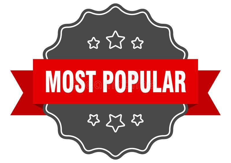 Most popular label. Most popular isolated seal.  most popular stock illustration